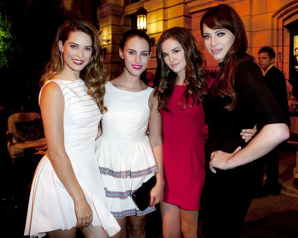 """<a href=""""/lyndsy-fonseca/contributor/402326"""">Lyndsy Fonseca</a> (""""<a href=""""/nikita/show/46555"""">Nikita</a>""""), <a href=""""/jessica-lowndes/contributor/2149244"""">Jessica Lowndes</a> (""""<a href=""""/90210/show/43006"""">90210</a>""""), Zoey Deutch (""""<a href=""""/ringer/show/47458"""">Ringer</a>""""), and <a href=""""/melinda-clarke/contributor/270841"""">Melinda Clarke</a> (""""<a href=""""/nikita/show/46555"""">Nikita</a>"""") attend The CW Fall Premiere party presented by Bing at Warner Bros. Studios on September 10, 2011 in Burbank, California."""