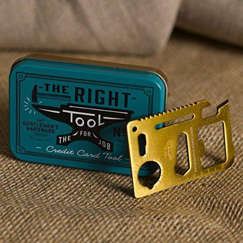 """<p><strong>Gentlemen's Hardware</strong></p><p>amazon.com</p><p><strong>$9.99</strong></p><p><a href=""""https://www.amazon.com/dp/B00PAWM2G8?tag=syn-yahoo-20&ascsubtag=%5Bartid%7C10050.g.2190%5Bsrc%7Cyahoo-us"""" rel=""""nofollow noopener"""" target=""""_blank"""" data-ylk=""""slk:Shop Now"""" class=""""link rapid-noclick-resp"""">Shop Now</a></p><p>With a can opener, knife blade, screwdriver, ruler, bottle opener, and much more packed into this slim card, this is a must-have for everyone on your list.</p>"""