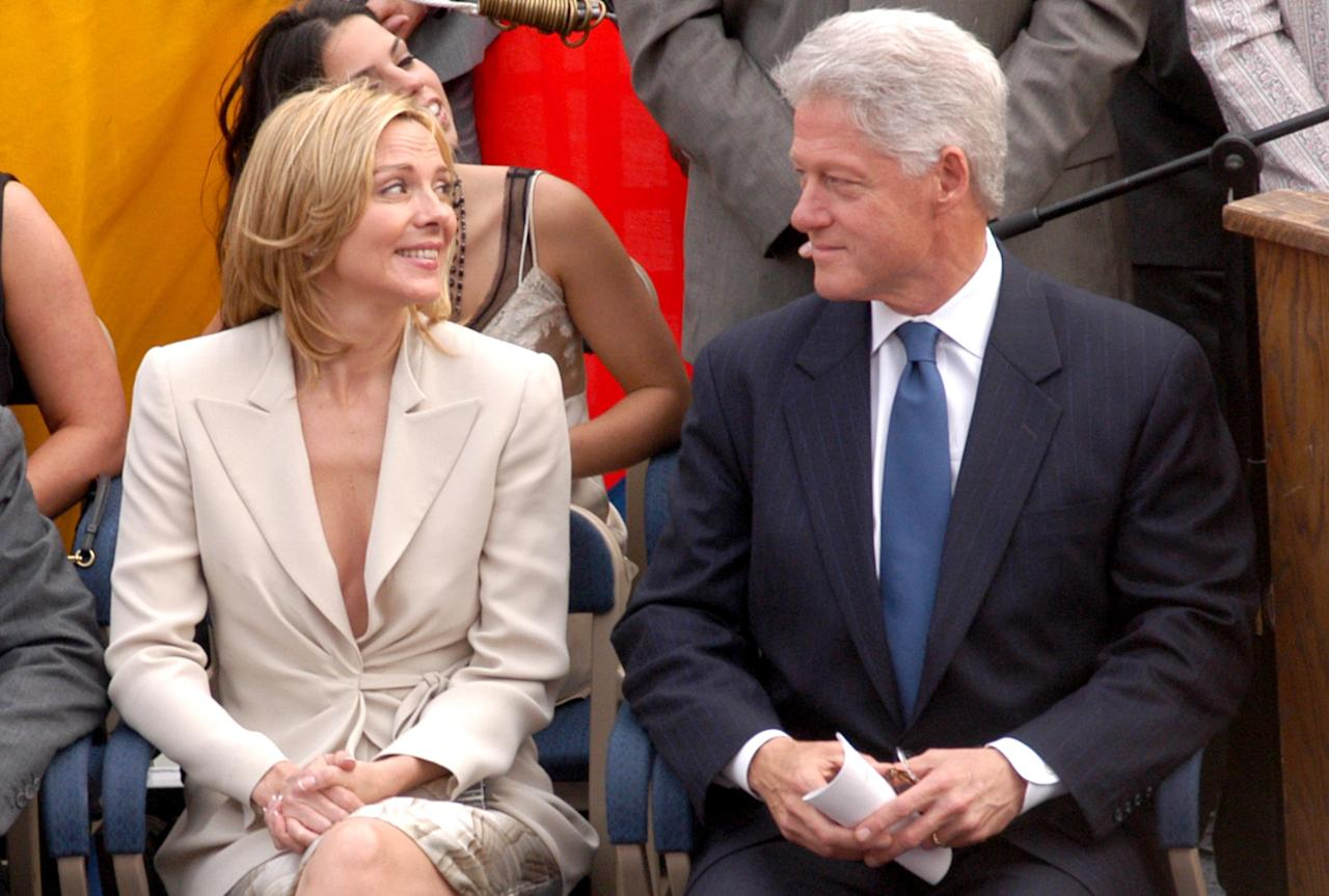 Kim Cattrall and former President Bill Clinton (Photo by Stephen Lovekin/FilmMagic)