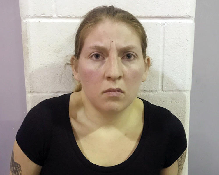 This undated photo provided by the Office of the Attorney General of Texas shows Sarah Rashelle Almaguer. Almaguer and her husband Christopher Almaguer were sentenced Wednesday, April 24, 2019, to 60 years each in prison for filming themselves sexually abusing kids, in a case that prosecutors say involved more than two dozen young victims, some of them babies. (Office of the Attorney General of Texas via AP)