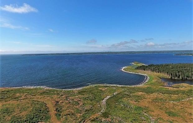 If it goes ahead, the $13-billion Goldboro LNG plant would be built here, in Goldboro, N.S. (Pieridae Energy - image credit)