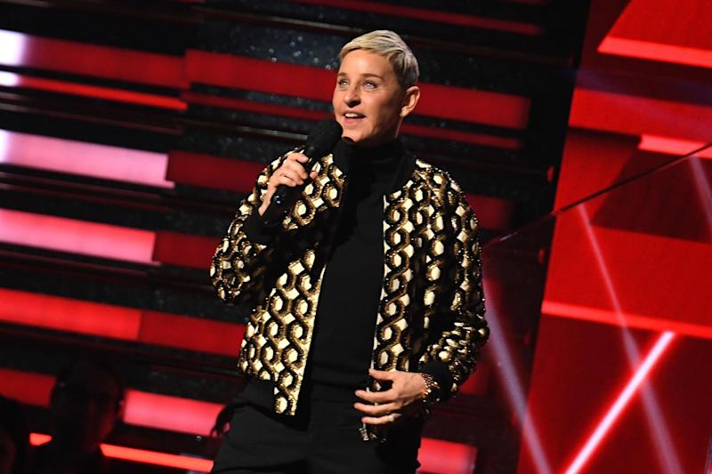 Ellen DeGeneres at the Grammy Awards on 26 January 2020, in Los Angeles: ROBYN BECK/AFP via Getty Images