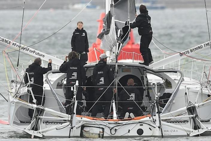 The Malizia II can travel at speeds of around 35 knots (70 kilometres an hour) but will be heading into the wind (AFP Photo/Ben STANSALL)