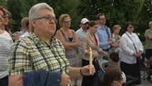 People gathered for a memorial in Jacques Cartier Park in Gatineau, a week after the tragedy in Lac-Mégantic.