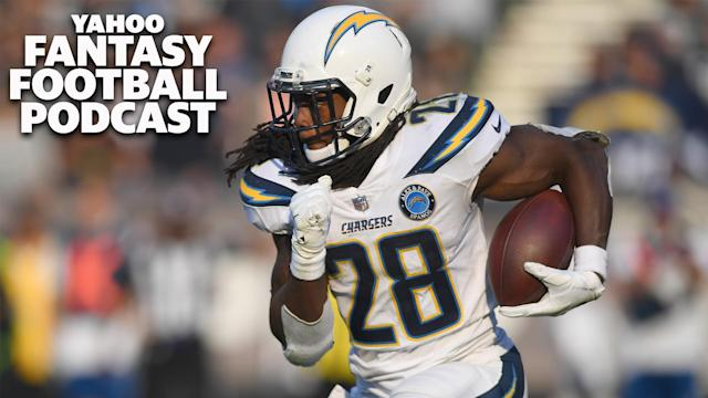 Liz Loza and Matt Harmon discuss the news that Melvin Gordon might be a training camp holdout or request a trade if he doesn't receive a new contract on the Yahoo Fantasy Football Podcast. (Photo by Thearon W. Henderson/Getty Images)