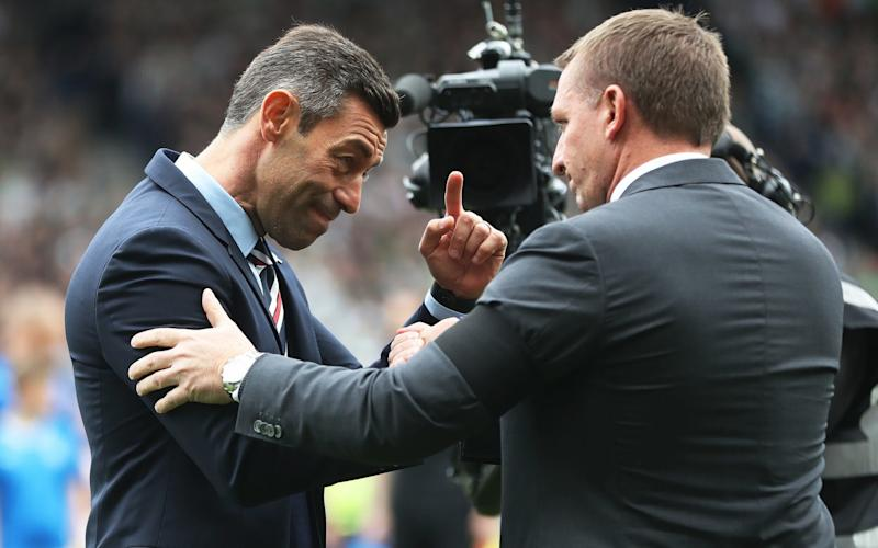 Celtic manager Brendan Rodgers and Rangers manager Pedro Caixinha meet again - Getty Images Europe
