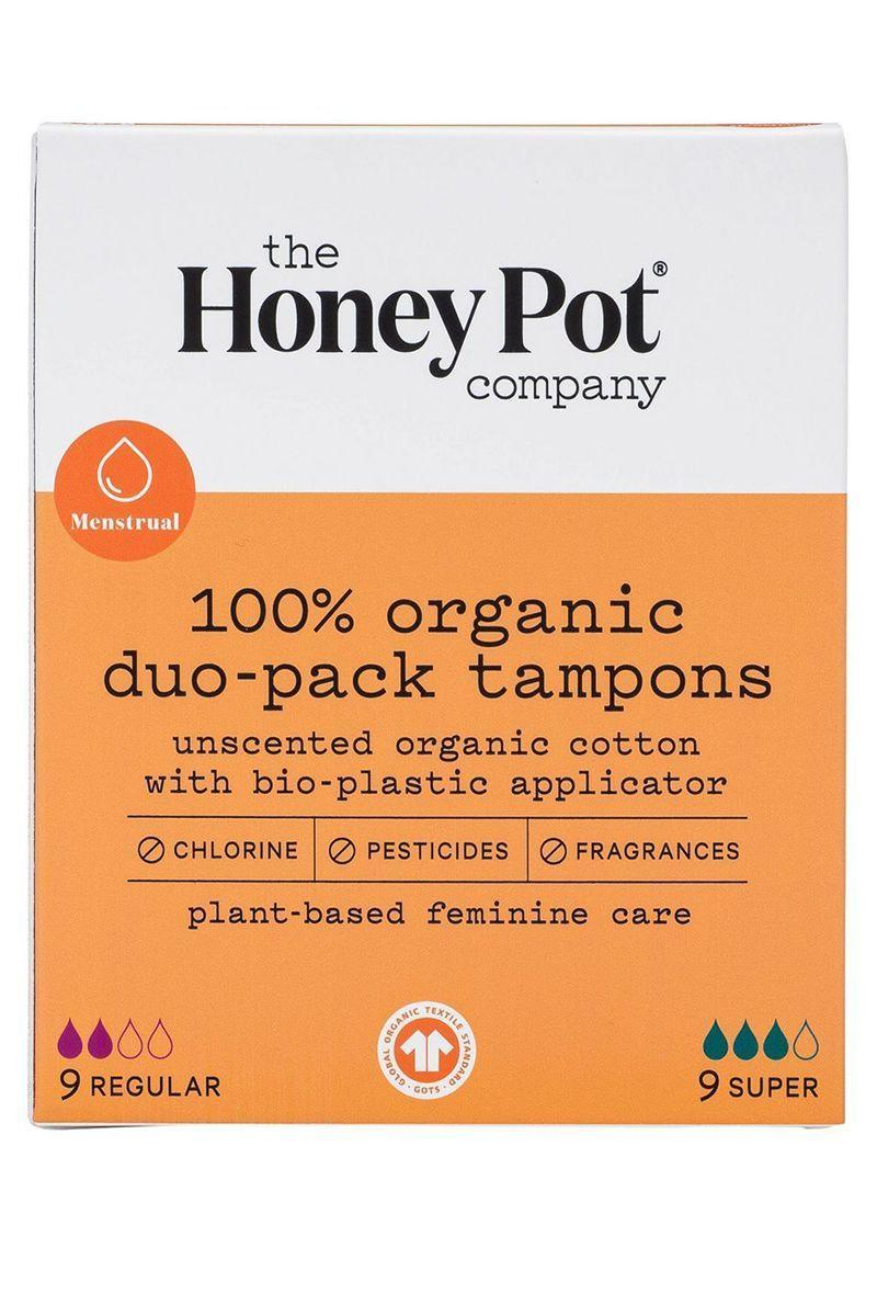 "<p><strong>Organic Duo-Pack Tampons</strong></p><p>thehoneypot.co</p><p><strong>$8.99</strong></p><p><a href=""https://thehoneypot.co/products/organic-duo-pack-tampons?variant=32026105249885"" rel=""nofollow noopener"" target=""_blank"" data-ylk=""slk:Shop Now"" class=""link rapid-noclick-resp"">Shop Now</a></p><p>There will be buy 2, get 1 free on select products from November 26th through November 29th. </p>"