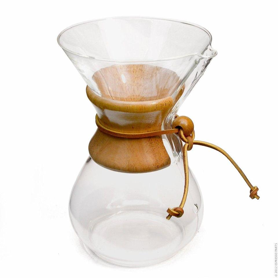 """<p><strong>Chemex</strong></p><p>walmart.com</p><p><strong>$50.89</strong></p><p><a href=""""https://go.redirectingat.com?id=74968X1596630&url=https%3A%2F%2Fwww.walmart.com%2Fip%2F50018635%3Fselected%3Dtrue&sref=https%3A%2F%2Fwww.goodhousekeeping.com%2Fholidays%2Fgift-ideas%2Fg29250426%2Fgifts-for-coffee-lovers%2F"""" rel=""""nofollow noopener"""" target=""""_blank"""" data-ylk=""""slk:Shop Now"""" class=""""link rapid-noclick-resp"""">Shop Now</a></p><p>The Chemex is one of the <a href=""""https://www.goodhousekeeping.com/appliances/coffee-maker-reviews/g34032026/best-pour-over-coffee-makers/"""" rel=""""nofollow noopener"""" target=""""_blank"""" data-ylk=""""slk:best pour over coffee makers"""" class=""""link rapid-noclick-resp"""">best pour over coffee makers</a> for a reason — any serious coffee set-up isn't complete without one. </p>"""