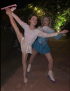 <p>Chloë Moretz donned a baby blue leotard and ice skates to channel Tonya Harding this Halloween. The actress finished the ensemble with splatters of faux blood. <em>[Photo: Instagram]</em> </p>