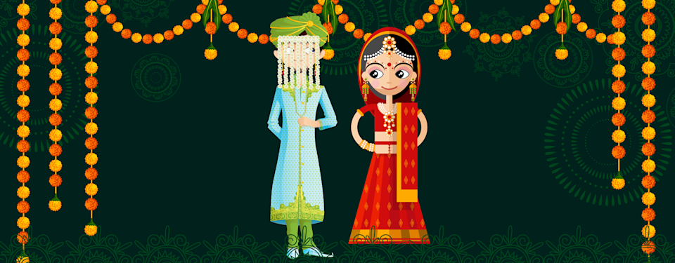 An illustrative portrayal of a couple in interfaith marriage