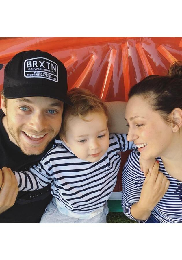 Zoe is pictured with her husband Hamish Blake and her two-year-old son, Sonny Blake. Photo: Instagram.