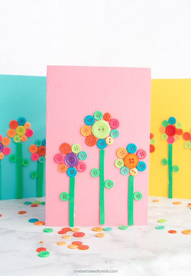 """<p>Avoid the mess of markers and paint by rounding up dozens of buttons to create adorable flowers of all shapes and sizes. </p><p><em><a href=""""https://www.thebestideasforkids.com/button-art/"""" target=""""_blank"""">Get the tutorial at The Best Ideas for Kids »</a></em><strong><br></strong></p><p><strong>RELATED:</strong> <a href=""""https://www.goodhousekeeping.com/holidays/mothers-day/g2412/mothers-day-homemade-gifts-crafts/"""" target=""""_blank"""">DIY Mother's Day Gifts That She'll Love </a><br></p>"""