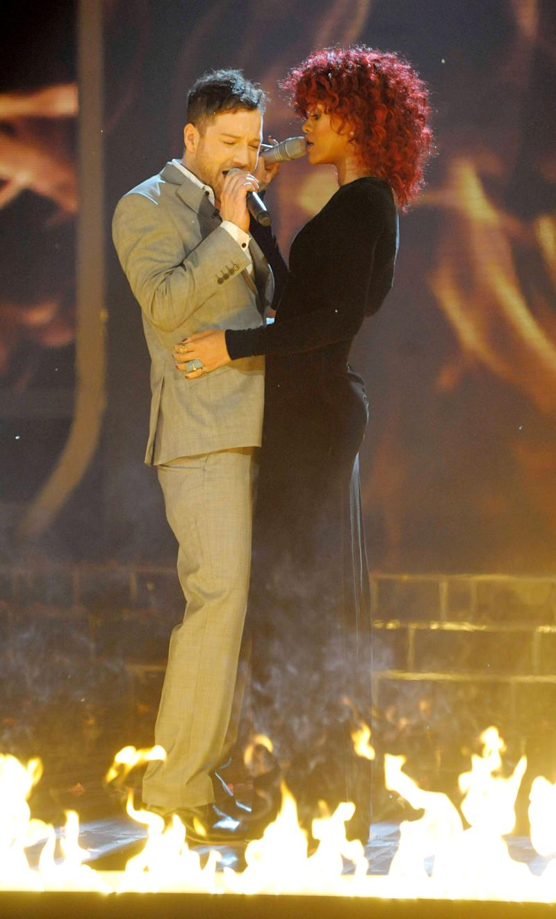 Rihanna performing with X Factor winner Matt Cardle in 2010 (Photo: Ken McKay/Talkback Thames/Shutterstock)