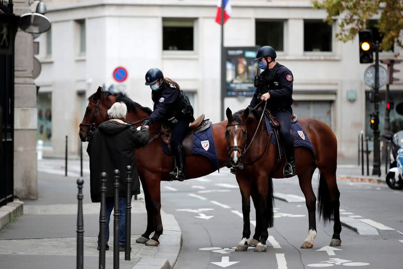 FILE PHOTO: Paris during the second national lockdown due to the spread of COVID-19 infection