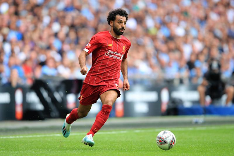 Liverpool's Mohamed Salah looks to lead his club to the Premier League title in 2019-20 (Photo by Marc Atkins/Getty Images)