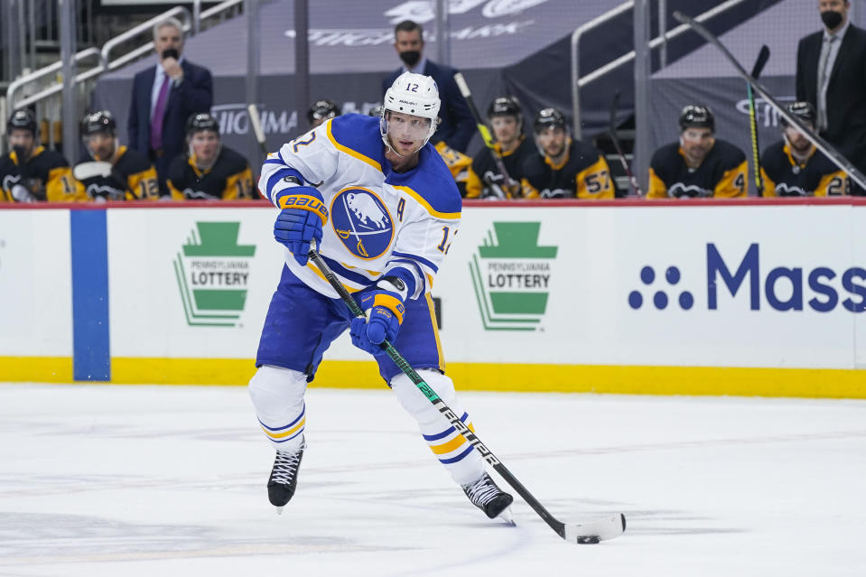 The Buffalo Sabres flipped centre Eric Staal to the Montreal Canadiens for a pair of draft picks on Friday. (Getty)