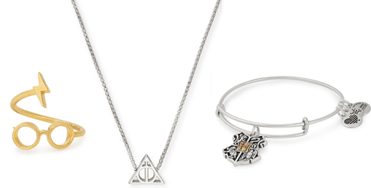 "Select pieces from Alex and Ani's new <a href=""https://www.alexandani.com/collections/collaborations/collection-group/harry-potter.html"" target=""_blank"">Harry Potter collection</a>.  (Alex and Ani)"