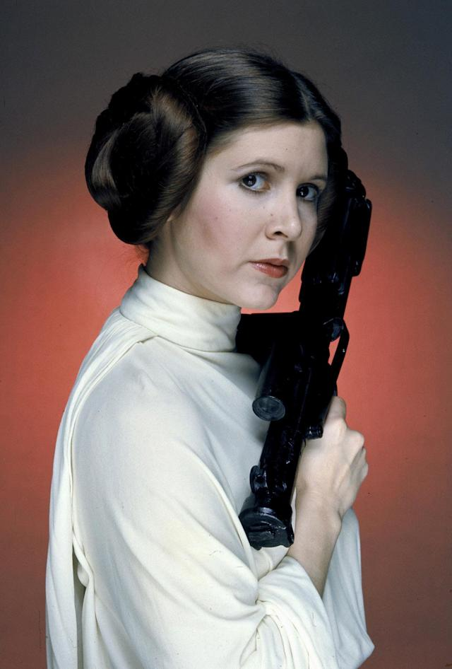 "<p>Carrie Fisher, Hollywood actress and famed daughter of Debbie Reynolds and Eddie Fisher, best known for playing Princess Leia in the ""Star Wars"" films, died following a heart attack on December 27. She was 60 years old. — (Pictured) As Princess Leia in 'Star Wars' in 1977. (CAP/PLF/MediaPunch/IPX/AP) </p>"