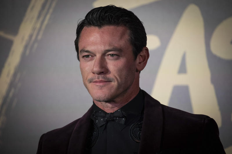 Luke Evans poses for photographers upon arrival at the Fashion For Relief charity event in central London, Saturday, Sept. 14, 2019. (Photo by Vianney Le Caer/Invision/AP)