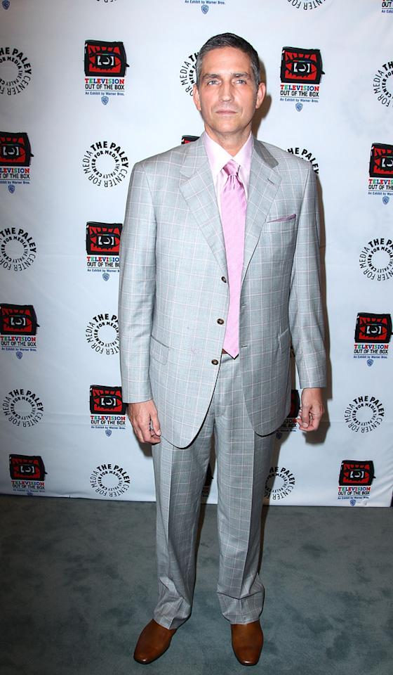 "Jim Caviezel attends ""An Evening With CBS' '<a target=""_blank"" href=""http://tv.yahoo.com/person-of-interest/show/47405"">Person of Interest</a>'"" at The Paley Center for Media on May 1, 2012 in Beverly Hills, California."