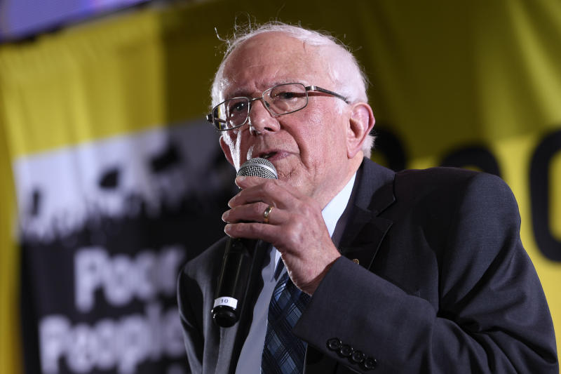 Democratic presidential candidate Sen. Bernie Sanders, I-Vt., speaks at the Poor People's Moral Action Congress presidential forum in Washington on June 17, 2019. | Susan Walsh—AP