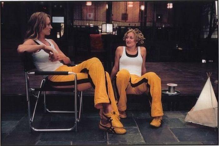 <p>Uma Thurman con Zoe Bell in Kill Bill (foto: dai social media) </p>