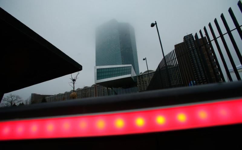 European Central Bank headquarters is pictured in Frankfurt