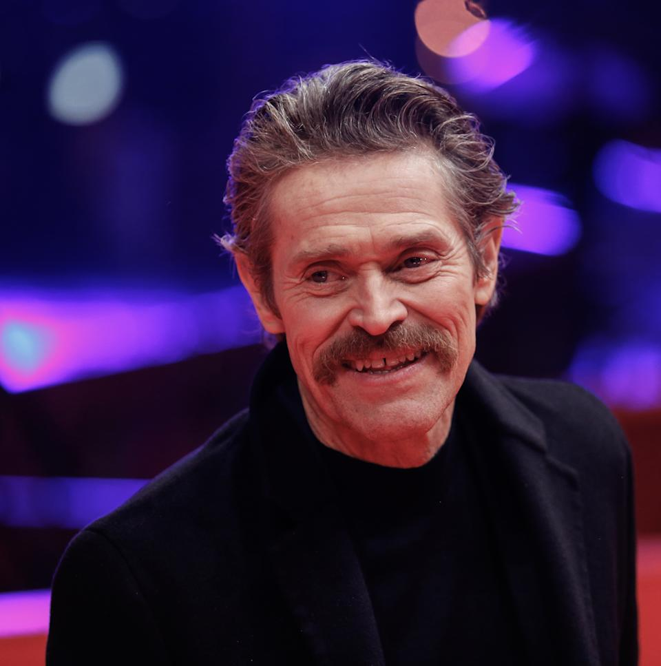 Willem Dafoe poses upon arrival at the red carpet at the ''Siberia'' premiere during the 70th Berlinale International Film Festival Berlin at Berlinale Palace on February 24, 2020 in Berlin, Germany. (Photo by Dominika Zarzycka/NurPhoto via Getty Images)