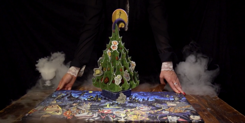 """""""The Nightmare Before Christmas Advent Calendar"""" Includes A Pop-up Tree And 25 Ghoulish Ornaments"""