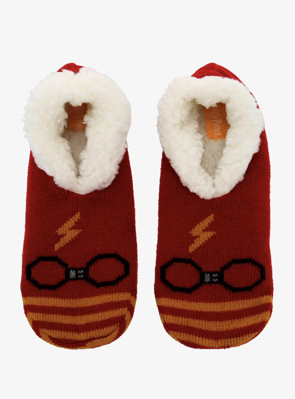 "<p><strong>Harry Potter</strong></p><p>hottopic.com</p><p><strong>$14.90</strong></p><p><a href=""https://go.redirectingat.com?id=74968X1596630&url=https%3A%2F%2Fwww.hottopic.com%2Fproduct%2Fharry-potter-icon-cozy-slippers%2F13590424.html&sref=https%3A%2F%2Fwww.seventeen.com%2Ffashion%2Fg2651%2Fharry-potter-gifts%2F"" rel=""nofollow noopener"" target=""_blank"" data-ylk=""slk:Shop Now"" class=""link rapid-noclick-resp"">Shop Now</a></p><p>These cozy slippers are as close as you'll get to warming your toes by the fireplace in the Gryffindor common room.</p>"
