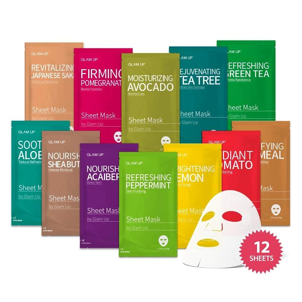 <p><span>Glam Up Facial Sheet Mask BTS 12Combo</span> ($8, originally $17)</p>