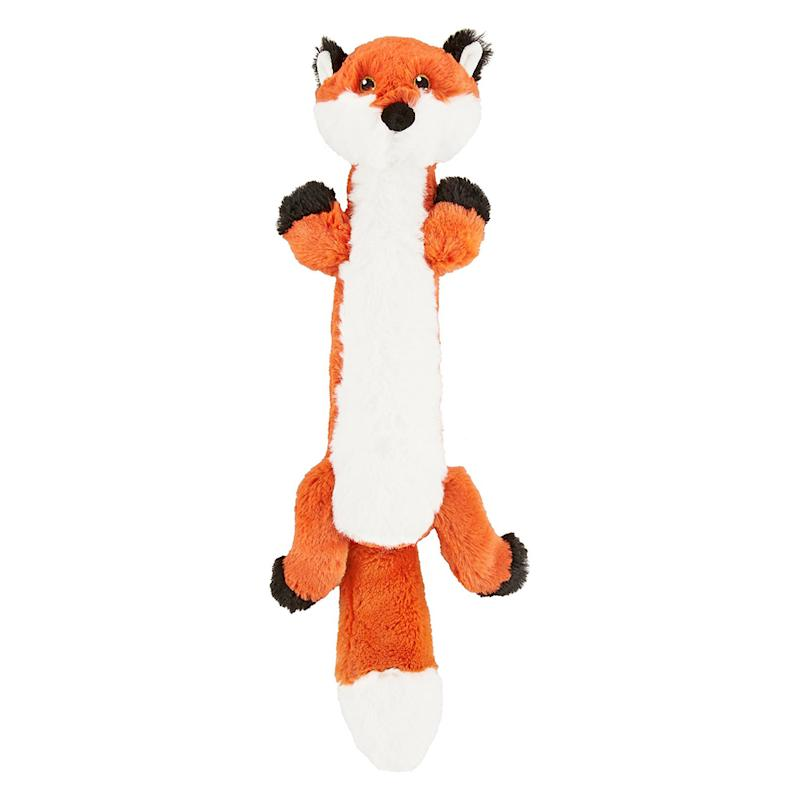 Frisco Skinny Plush Squeaking Fox Dog Toy. (Photo: Chewy)