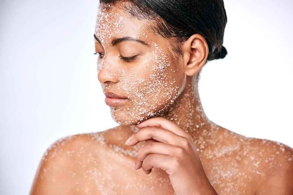 One mistake you're likely making with your skincare routine is physical exfoliation, you should instead use a chemical exfoliant. Photo: Getty