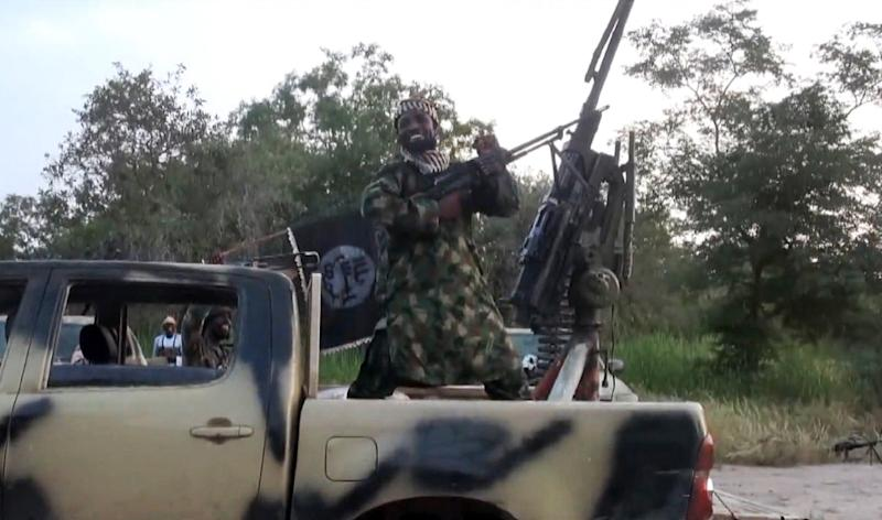 A screengrab taken on October 2, 2014 from a video released by the Nigerian Islamist extremist group Boko Haram shows the group's leader, Abubakar Shekau (AFP Photo/)