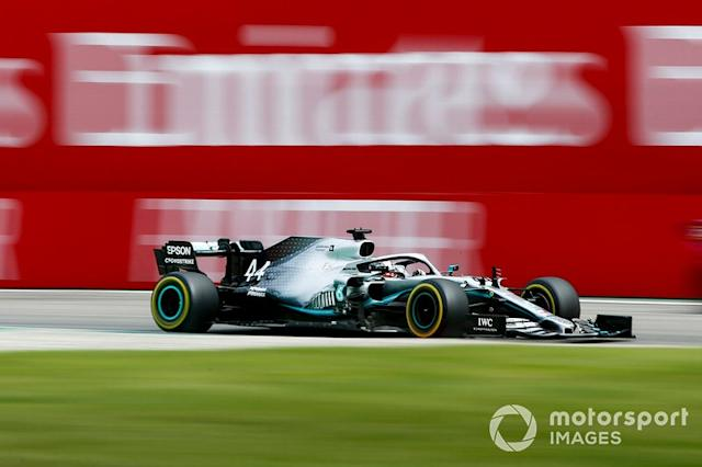 "Lewis Hamilton, Mercedes AMG F1 W10 <span class=""copyright"">Andy Hone / LAT Images</span>"