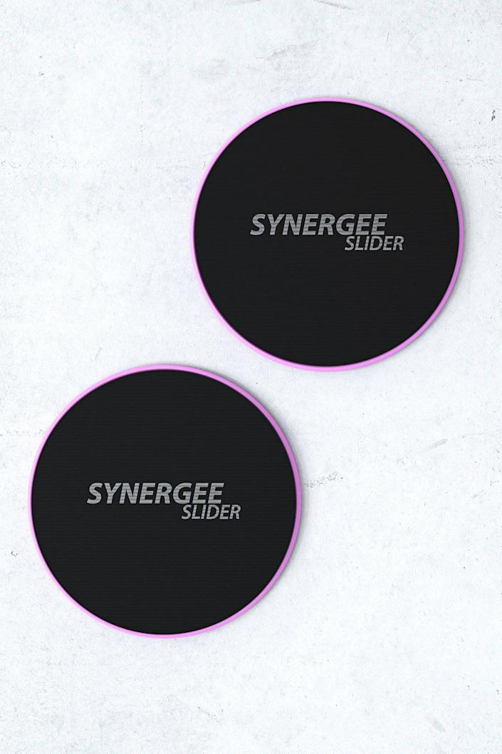 """<p><strong>Synergee</strong></p><p>urbanoutfitters.com</p><p><strong>$16.95</strong></p><p><a href=""""https://go.redirectingat.com?id=74968X1596630&url=https%3A%2F%2Fwww.urbanoutfitters.com%2Fshop%2Fsynergee-core-sliders&sref=https%3A%2F%2Fwww.prevention.com%2Flife%2Fg37518421%2Fcheap-christmas-gifts%2F"""" rel=""""nofollow noopener"""" target=""""_blank"""" data-ylk=""""slk:Shop Now"""" class=""""link rapid-noclick-resp"""">Shop Now</a></p><p>If you've been trying to convince your significant other to be your gym partner, give them these colorful core discs. The sliders introduce a balance and stability challenge to every movement, perfect for beginner and advanced workouts.</p>"""