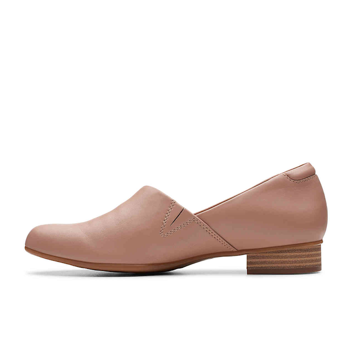 """<p><strong>Clarks</strong></p><p>amazon.com</p><p><strong>$49.95</strong></p><p><a href=""""https://www.amazon.com/dp/B07GQF1CS1?tag=syn-yahoo-20&ascsubtag=%5Bartid%7C10055.g.30633786%5Bsrc%7Cyahoo-us"""" rel=""""nofollow noopener"""" target=""""_blank"""" data-ylk=""""slk:Shop Now"""" class=""""link rapid-noclick-resp"""">Shop Now</a></p><p>You'll want to add this stylish loafer to your closet ASAP. The small heel gives it a sophisticated vibe, while the OrthoLite footbed and cushion soft padding add comfort. </p>"""