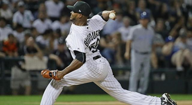 Al Alburquerque has a devastating slider when he's on. (Photo by Jonathan Daniel/Getty Images)