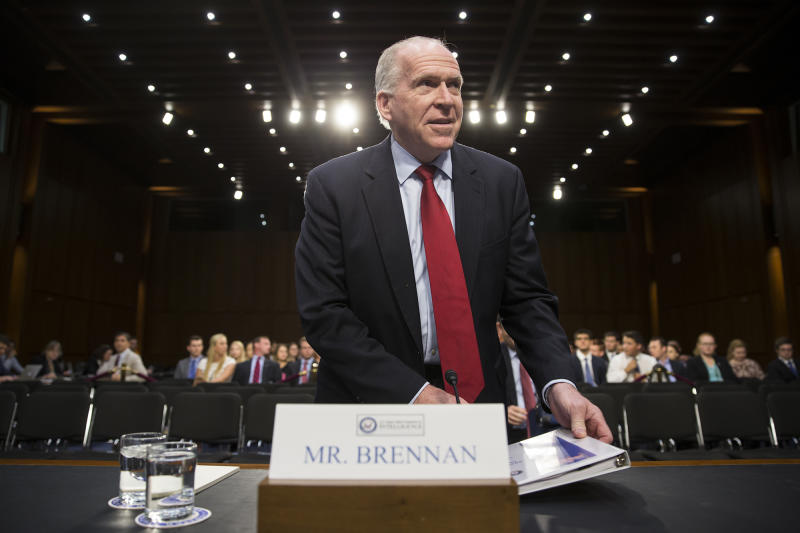 CIA Director John Brennan arrives on Capitol Hill in Washington in June 2016, to testify before the Senate Intelligence Committee hearing on ISIS. (Photo: J. Scott Applewhite/AP)