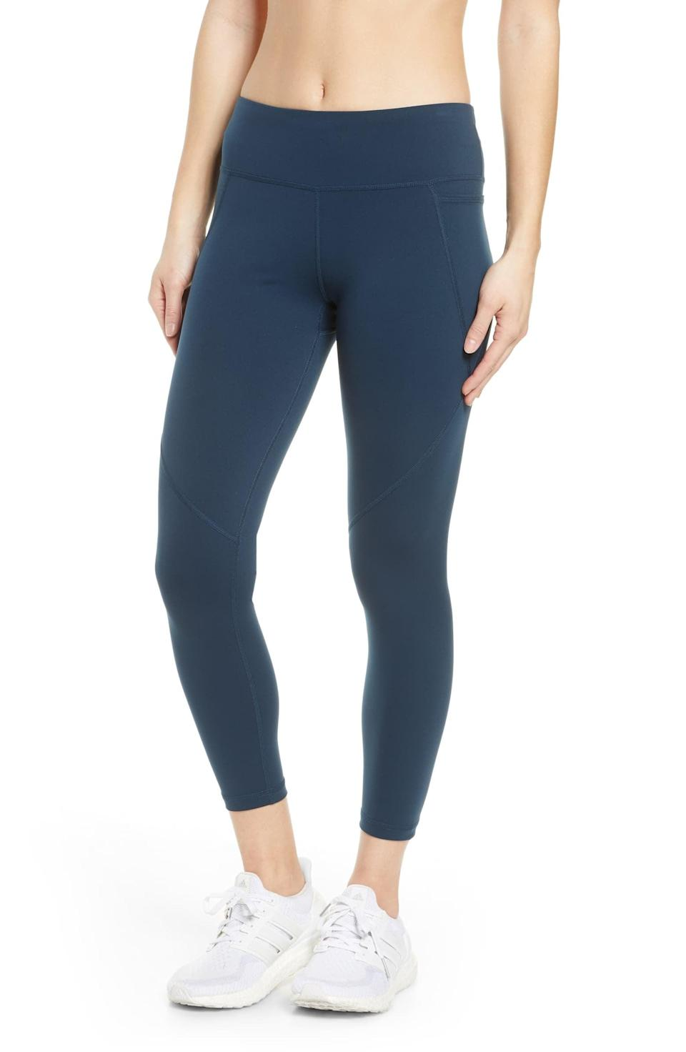 <p>These <span>Sweaty Betty Power Sculpt Workout 7/8 Leggings</span> ($100) hold you in all the right places.</p>
