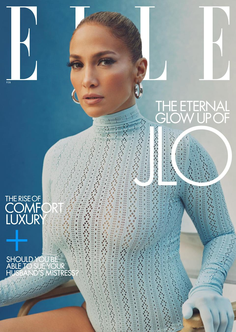 <p>J Lo wears a Fendi bodysuit and gloves with her own Jennifer Fisher earrings.</p>