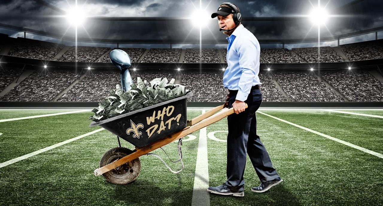 Wheelbarrows of money and fast-food feasts: The Saints have the loosest locker room in the NFL playoffs
