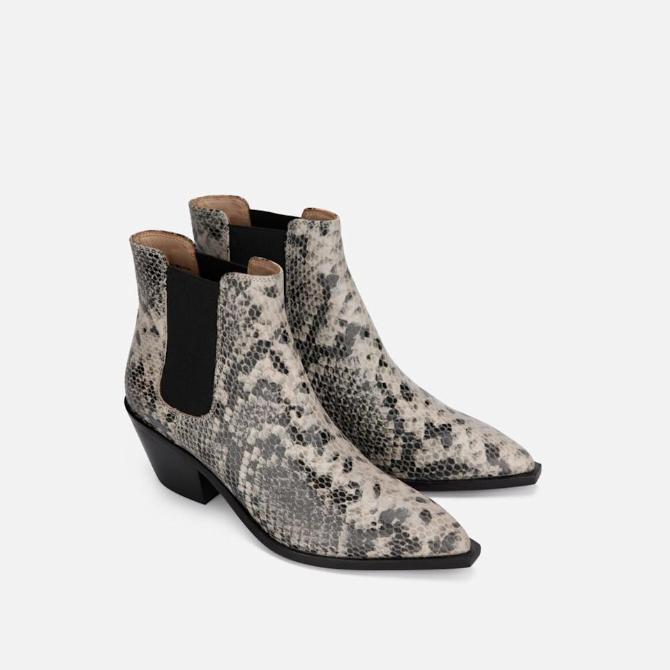 """<h3><a href=""""https://www.kennethcole.com/"""" rel=""""nofollow noopener"""" target=""""_blank"""" data-ylk=""""slk:Kenneth Cole"""" class=""""link rapid-noclick-resp"""">Kenneth Cole</a></h3><p><strong>Dates:</strong> Now - September 2<br><strong>Sale:</strong> 40% off new arrivals and an additional 30% off sale styles<br><strong>Promo Code:</strong> None</p><p>If you're feeling ready to take the plunge and buy a new pair of fall boots — this is the sale for you. Kenneth Cole is offering a generous 40% off new styles. And there's a good, quality assortment of boots you need to see.</p><br><br><strong>Kenneth Cole New York</strong> Mesa Snake Print Block Heel Chelsea Boot, $90, available at <a href=""""https://www.kennethcole.com/women/shoes/boots-and-booties/mesa-snake-print-block-heel-chelsea-boot-KLS916EB.html"""" rel=""""nofollow noopener"""" target=""""_blank"""" data-ylk=""""slk:Kenneth Cole"""" class=""""link rapid-noclick-resp"""">Kenneth Cole</a>"""