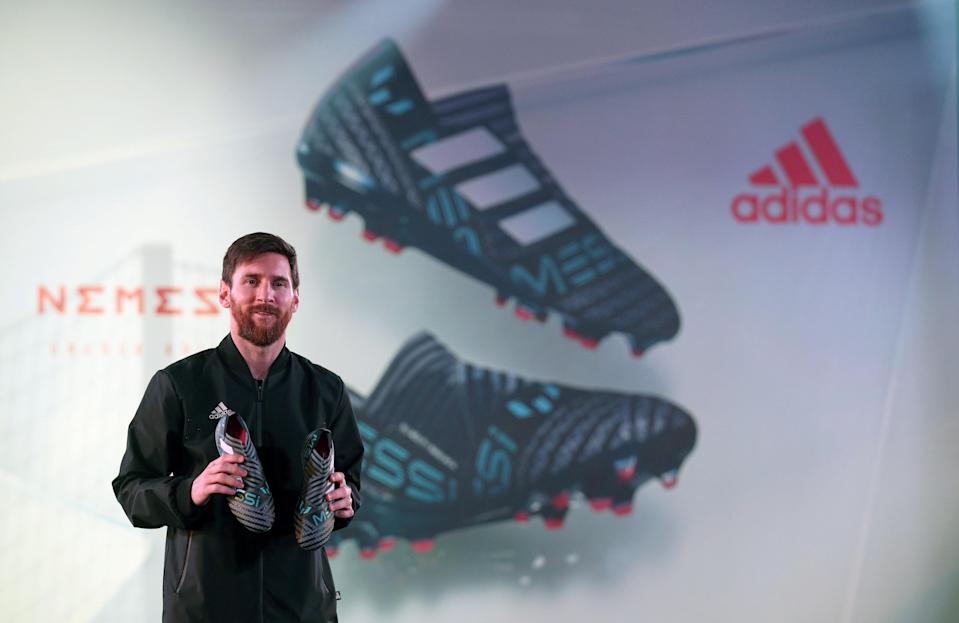 FC Barcelona's soccer player Lionel Messi has a lifetime deal with Adidas. (Photo: REUTERS/Albert Gea)
