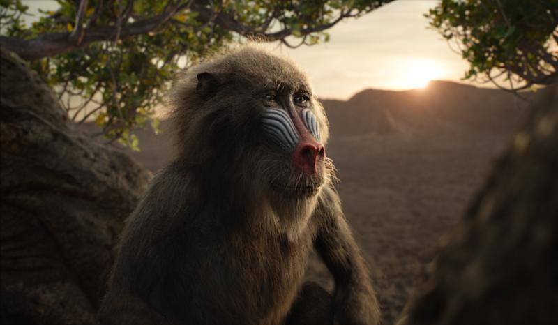 """Featuring the voice of John Kani as Rafiki, Disney's """"The Lion King"""" is directed by Jon Favreau. 