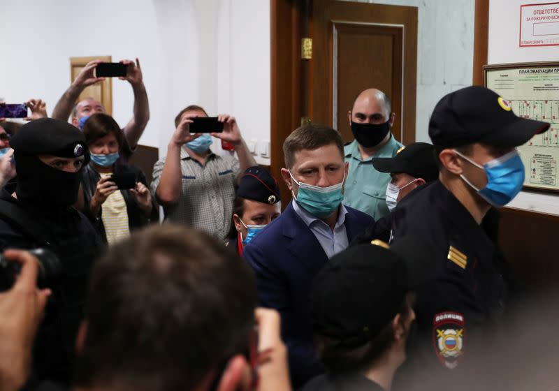 Russian court places regional governor in pre-trial detention on murder charges