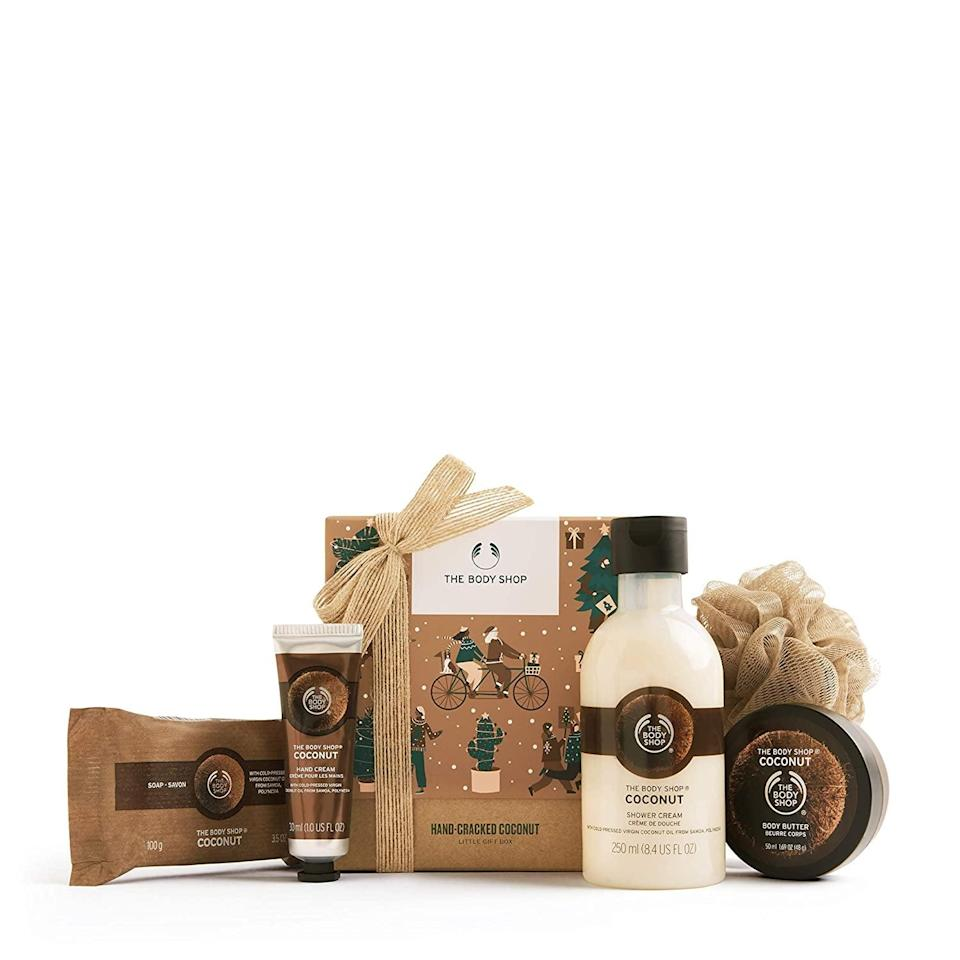 <p>If your loved ones love coconut, they'll adore the <span>The Body Shop Coconut Gift Set</span> ($25).</p>