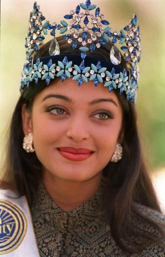 <p>Miss World 1994 Aishwarya Rai poses for photographers a day after winning her crown in Sun City, South Africa. </p>