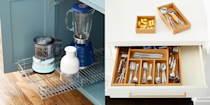 "<p>No matter what size your kitchen is, staying organized can be challenging. From <a href=""https://www.housebeautiful.com/shopping/home-gadgets/g22826031/smart-kitchen-appliances/"" rel=""nofollow noopener"" target=""_blank"" data-ylk=""slk:small appliances"" class=""link rapid-noclick-resp"">small appliances</a> and food and pantry items to utensils and glassware, there's a lot of stuff to stow away <a href=""https://www.housebeautiful.com/room-decorating/kitchens/g2190/open-shelving-roundup/"" rel=""nofollow noopener"" target=""_blank"" data-ylk=""slk:in your kitchen"" class=""link rapid-noclick-resp"">in your kitchen</a>—not to mention, it can be difficult to figure out how to store things like plastic food container lids (no one likes to open the cabinet to a plastic avalanche!), cutting boards, baking sheets, food wraps, pot lids, and more. And every kitchen has its quirks, so you have those to factor in, too. Whether you're navigating tiny cabinets, narrow drawers, or an overall lack of storage space, there's a lot to contend with when you're trying to keep your kitchen tidy while <em>also</em> making sure everything you need is still accessible. <br><br>Thanks to these genius products, you can make sure the items you need are always where they're supposed to be—and easily within reach. And the best part? Many of these products aren't just handy, they're stylish and budget-friendly, too. In fact, half of the items featured here come in at under $25, so you can reorganize your entire space without worrying about breaking the bank.</p>"