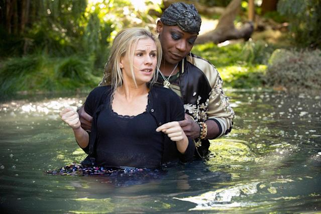"Anna Paquin and Nelsan Ellis in the ""True Blood"" Season 6 episode, ""F--- the Pain Away."""